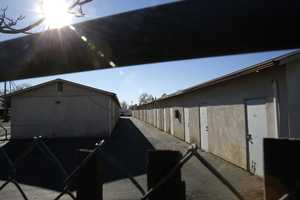 Delylah and Shaun Tara were found dead inside plastic storage containers in this storage locker in Redding, Calif.