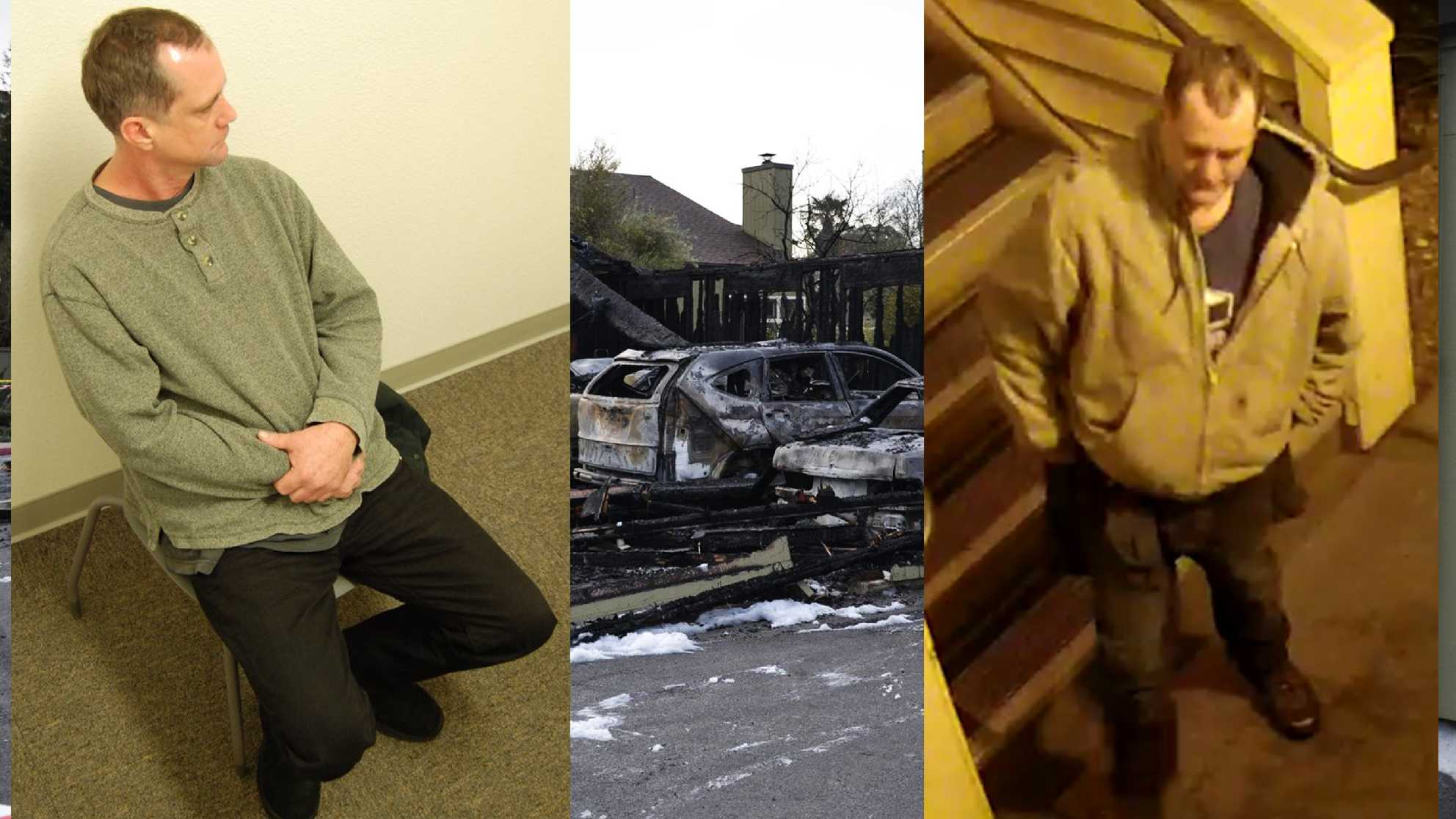 Brian Tell, left, and the Soquel car arson suspect, right.