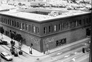 Historic photo of Dick Bruhn building