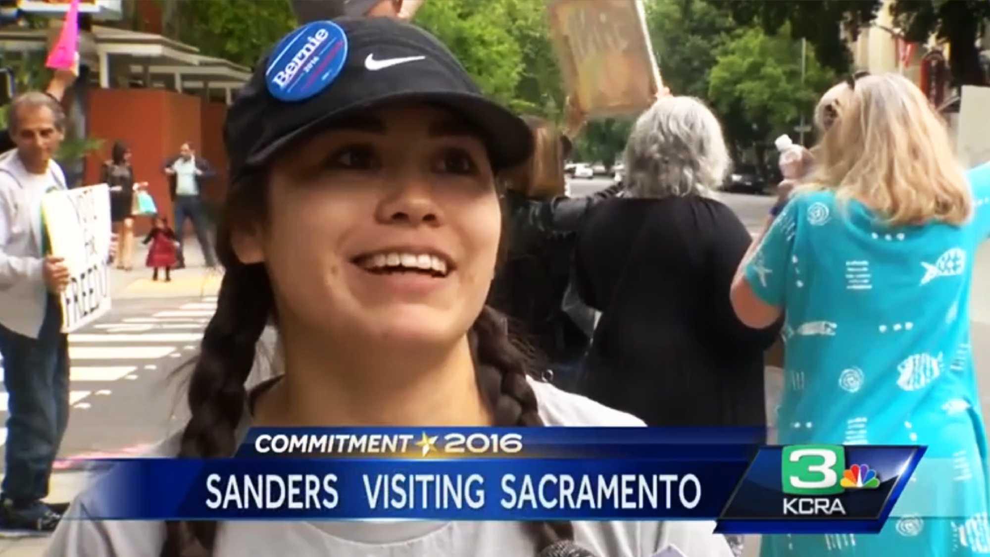 Sanders in Sac