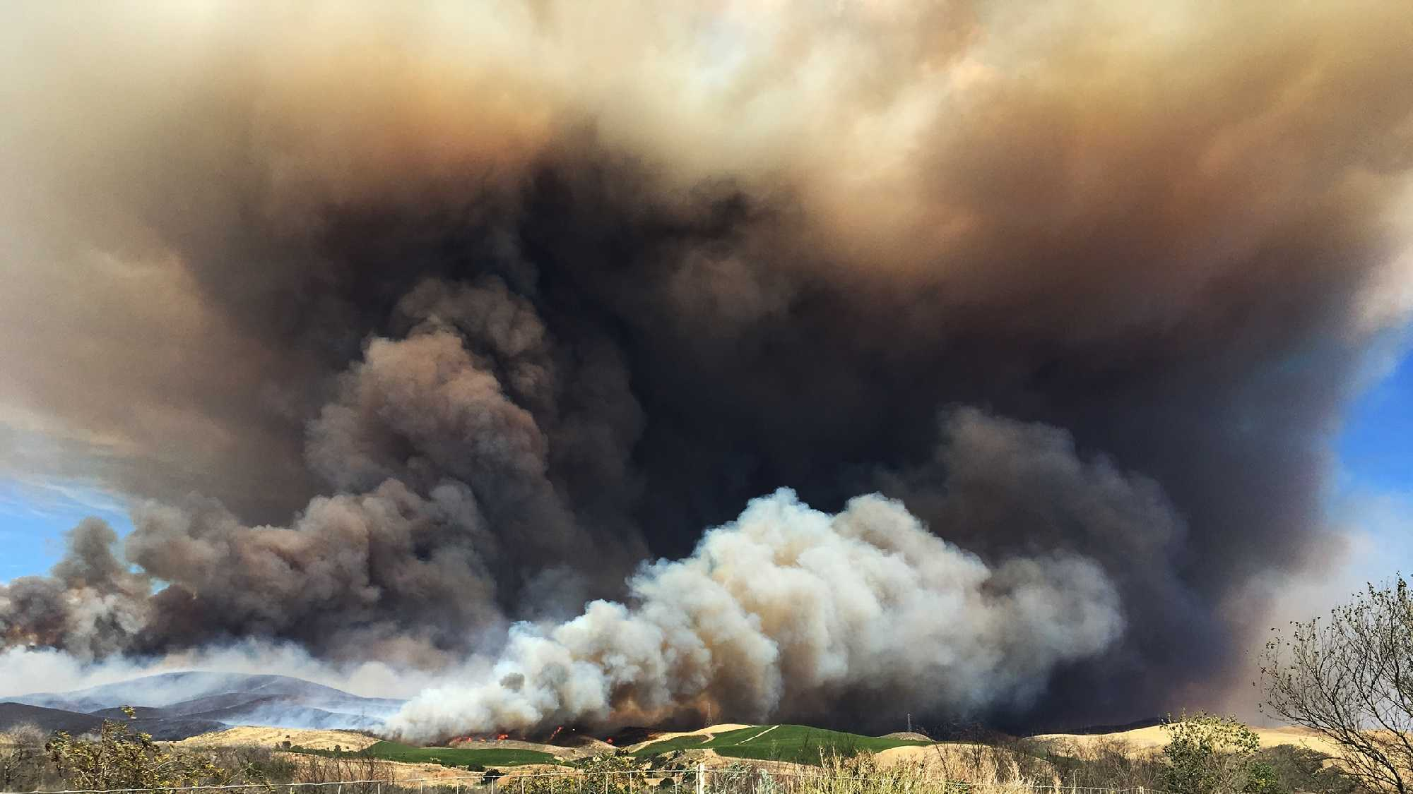 Wildfire near Soledad