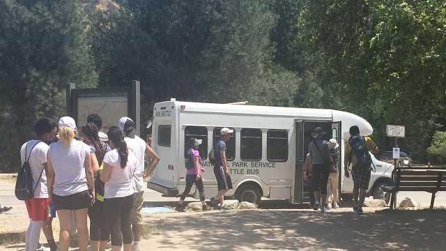 Pinnacles National Park packed on Memorial Day Weekend