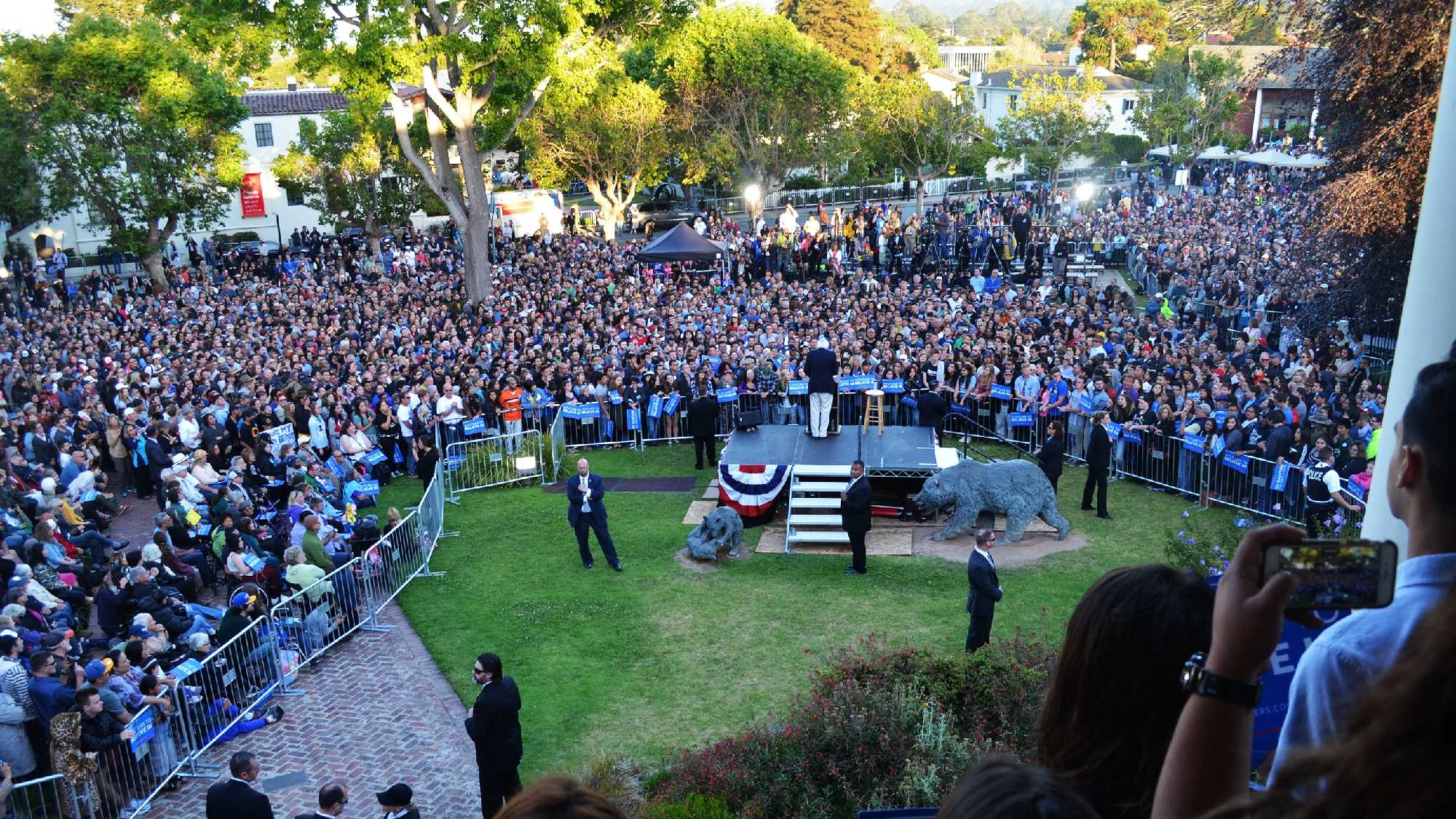 Thousands showed up at Bernie Sanders' rally in Monterey.