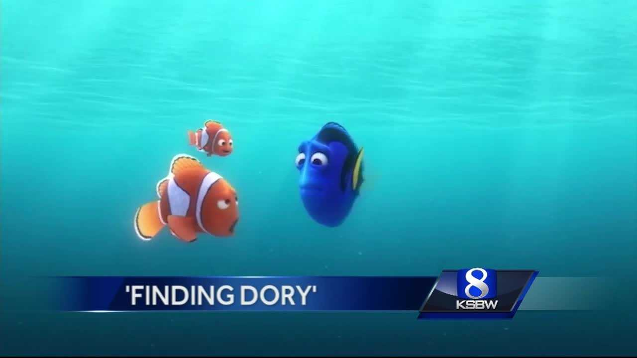 The blue fish behind 'Finding Dory'