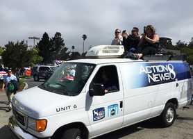 Dennis Lehnen and Lee Solomon in the Aptos parade.
