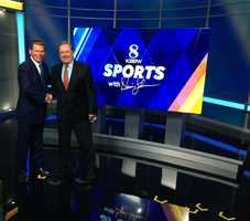 New sports set with Sports Anchor Dennis Lehnen and President & General Manager Joseph Heston.