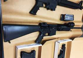 One Toro Park case that the Sheriff's Office focused on for months was the search for Salinas Police Chief Kelly McMillin's AR15 assault rifle, seen here. The AR15 was secured in a steel gun lock in McMillin's unmarked police car when a thief ripped it out and stole it in March. The thief also swiped the chief's bulletproof vest, a large amount of ammunition and personal property.