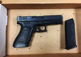 Deputies also recovered a handgun that was stolen from a Salinas Police Department officer in the Las Palmas neighborhood in April. A thief stole the officer's badge, uniform and .45-caliber semi-automatic handgun from the officer's unlocked car.