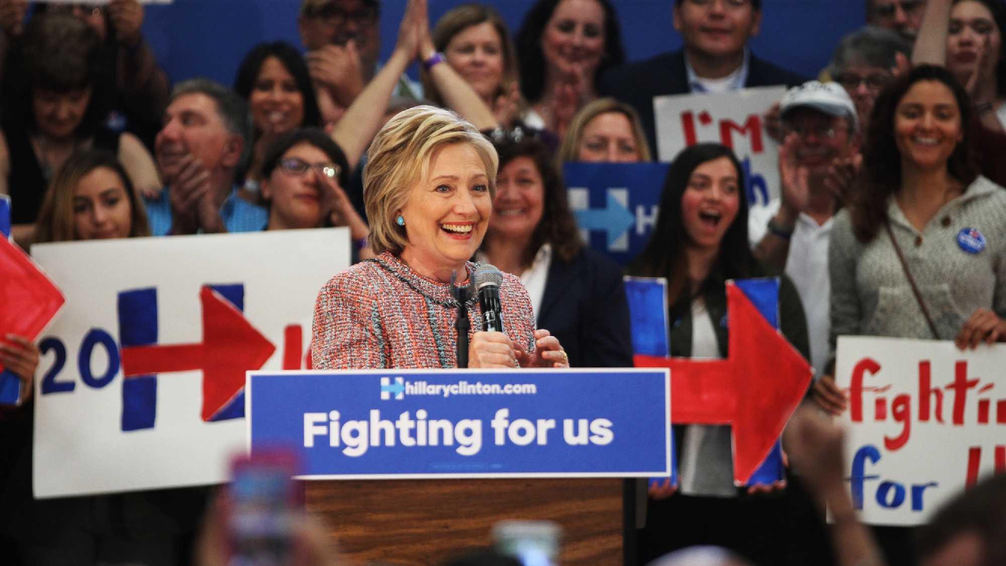 Hillary Clinton campaigns in Salinas.
