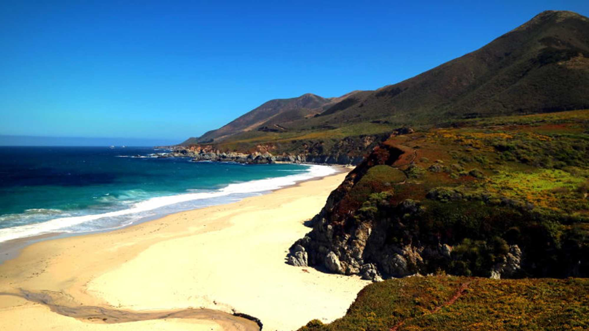 A photo shot of Garrapata State Beach on July 9 shows a picturesque scene before the wildfire ignited July 22.