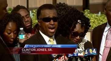 Oct. 22: Clinton Jones, Sr., Corey Jones' father addresses the media.