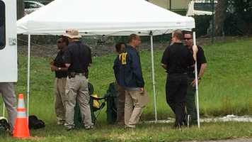 Oct. 24: The Federal Bureau of Investigation investigates the area where Corey Jones was shot to death.