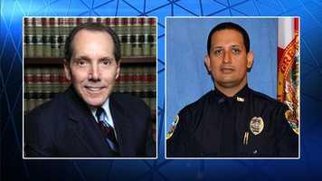 Oct. 28: Officer Nouman Raja hireswell known criminal attorney Richard Lubin.