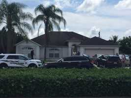 "Ari Hait reporting from home of Omar Marteen in Port St. Lucie, Florida.""Large police presence outside home in PSL. This is connected to the shooting in Orlando."""