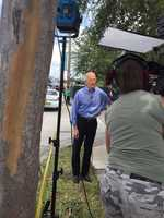 "Tiffany Kenney reporting from Orlando, Florida.""Gov. Scott addressing media in wake of #Orlando shootings."""