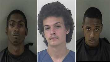 (left to right): John Crankfield, 19, Alexander Parnell, 19 and Calius Judon, 18, of Indian River County.