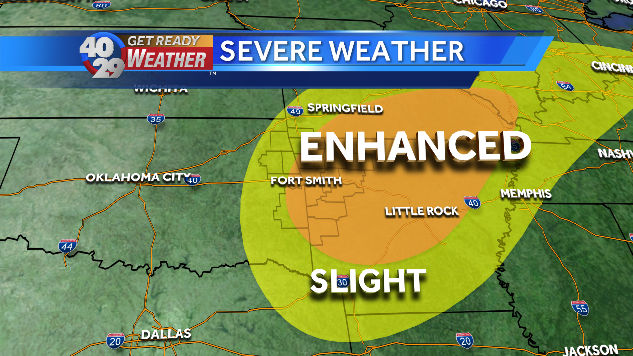 Severe storms possible overnight, into Wednesday