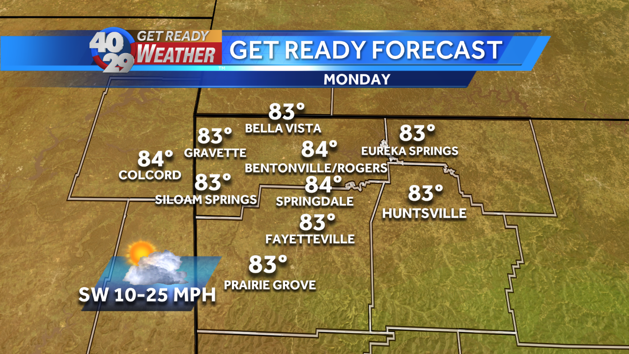 Near-record high temperatures expected Monday before front moves through Tuesday