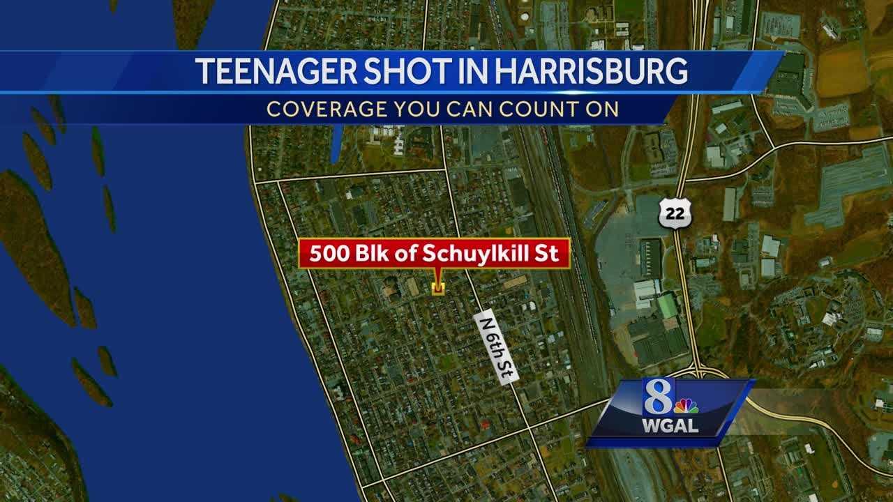 Teen shot Harrisburg map