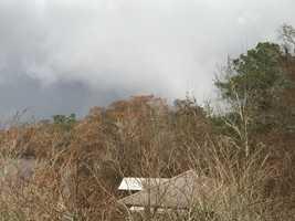"Tornado passing over Tchefuncte River at 11:20"""