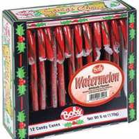 Watermelon Candy Canes