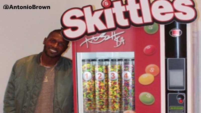 Antonio Brown Skittles Machine