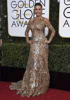 Sofia Vergara arrives at the 74th annual Golden Globe Awards at the Beverly Hilton Hotel on Sunday, Jan. 8, 2017, in Beverly Hills, Calif. (Photo by Jordan Strauss/Invision/AP)