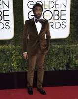 Donald Glover arrives at the 74th annual Golden Globe Awards at the Beverly Hilton Hotel on Sunday, Jan. 8, 2017, in Beverly Hills, Calif. (Photo by Jordan Strauss/Invision/AP)