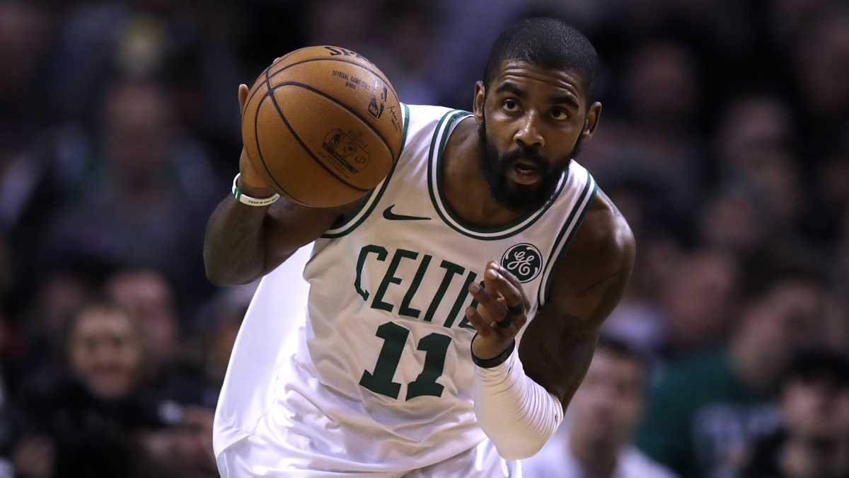 Celtics' Kyrie Irving coy on possible reunion with LeBron James