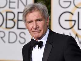 In this Jan. 10, 2016 file photo, Harrison Ford arrives at the 73rd annual Golden Globe Awards in Beverly Hills, Calif.