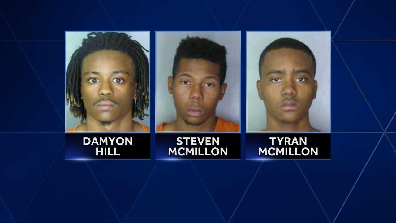 Damyon Hill, Steven McMillon, Tyran McMillon