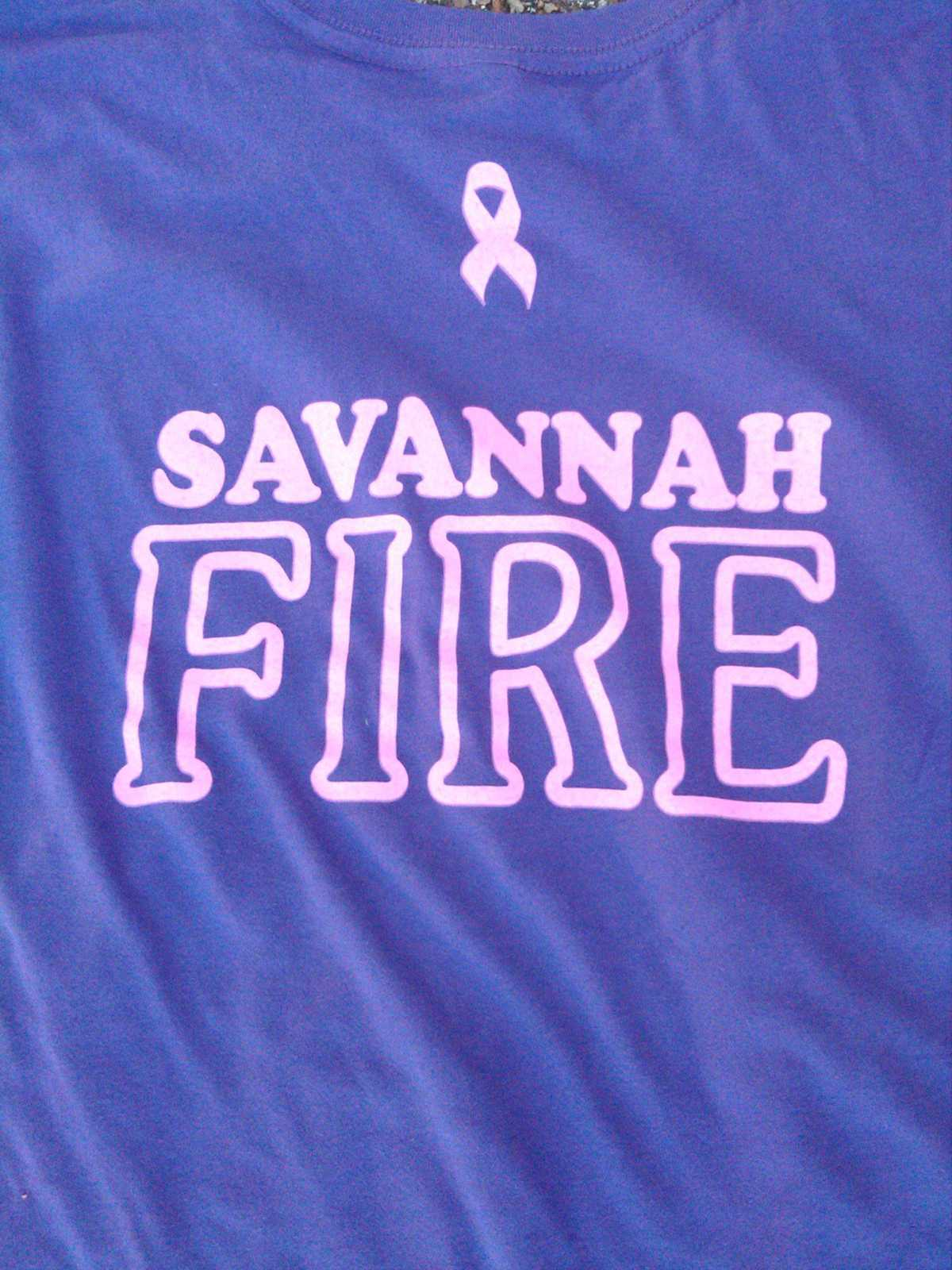 Savannah fire selling t shirts for breast cancer fundraiser for Sell t shirts for charity