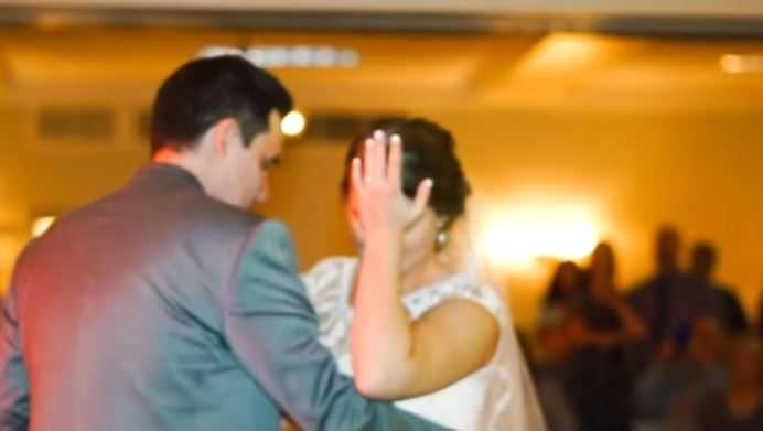 Bride surprised with late-father's voice as part of emotional father-daughter dance