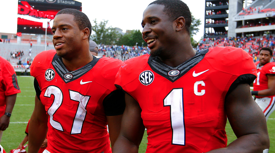 Nick Chubb, Sony Michel say they'll be back for senior year