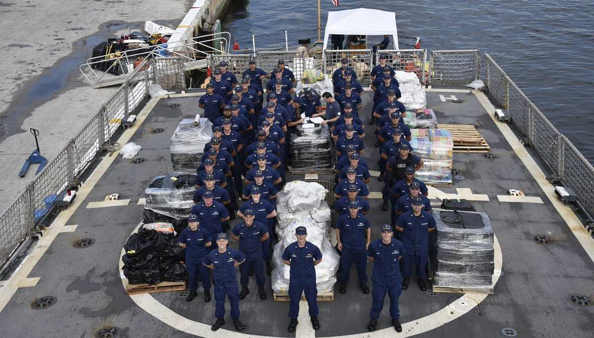 US Coast Guard crew seizes cocaine worth $206 million