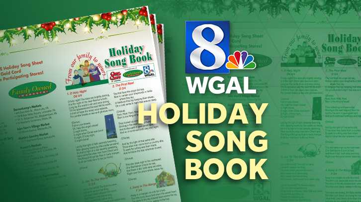 WGAL 8 Holiday Song Books