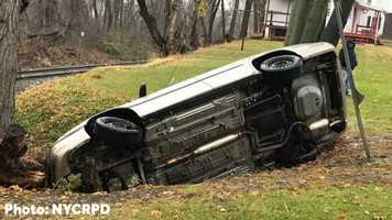 Car into ditch