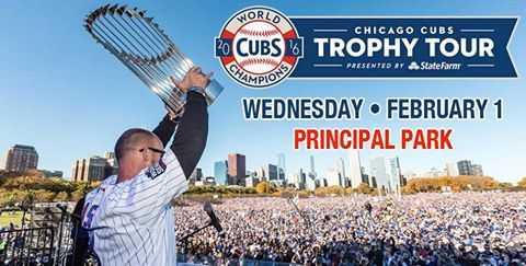 Chicago Cubs announce Davenport trophy tour stop