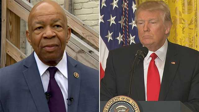 Rep. Cummings asks Trump to soften talk about black communities