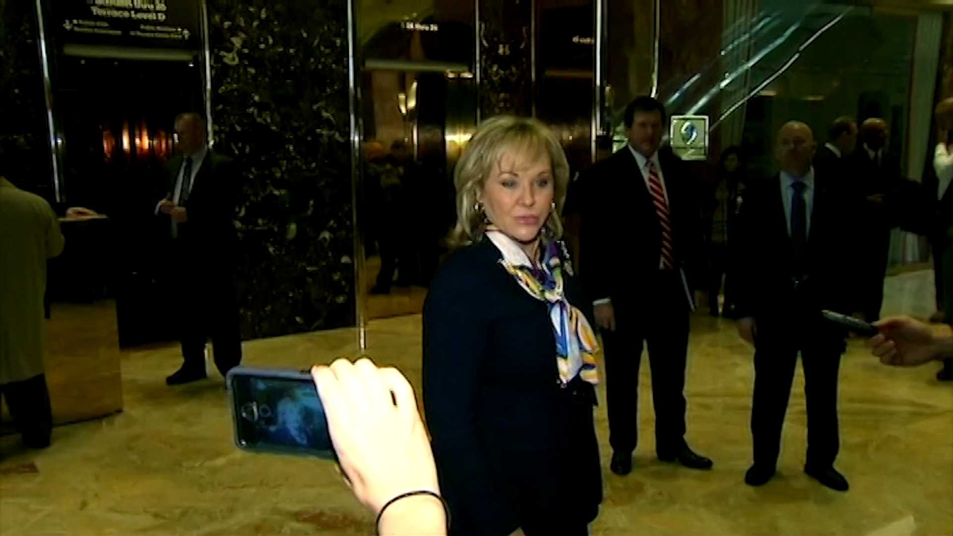 Oklahoma Gov. Mary Fallin in Trump Tower