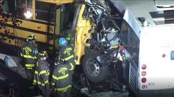 Fatal crash scene