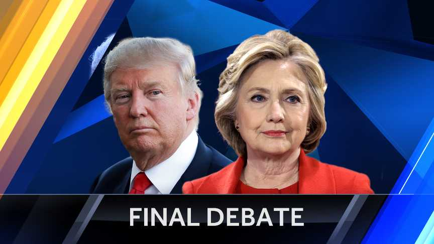 Final debate graphic