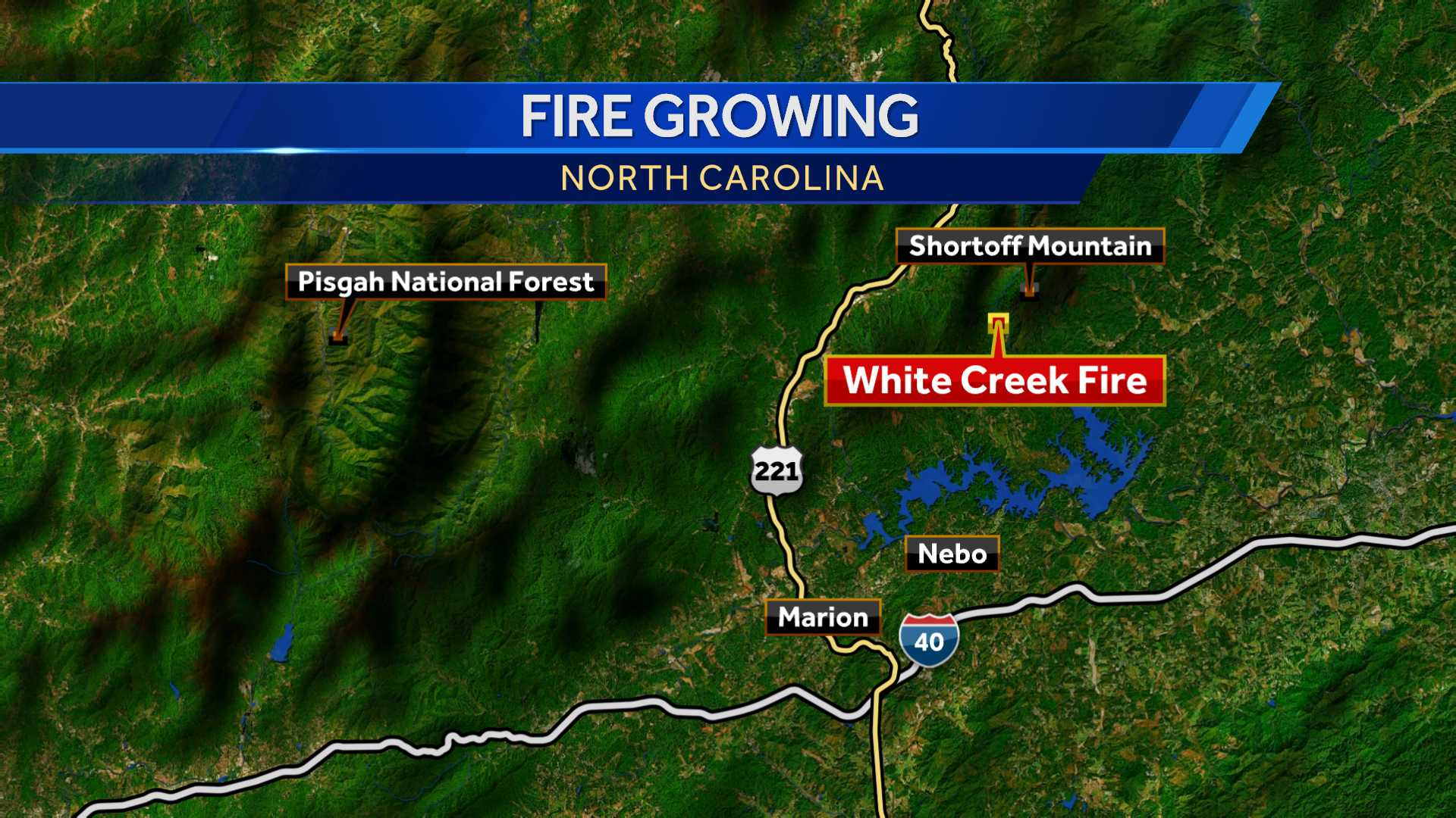 Firefighters conduct burnout operation on White Creek Fire at Linville Gorge