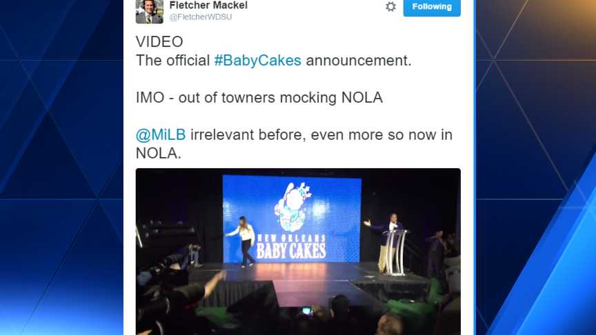 New Orleans has a fresh take, renames baseball team Baby Cakes