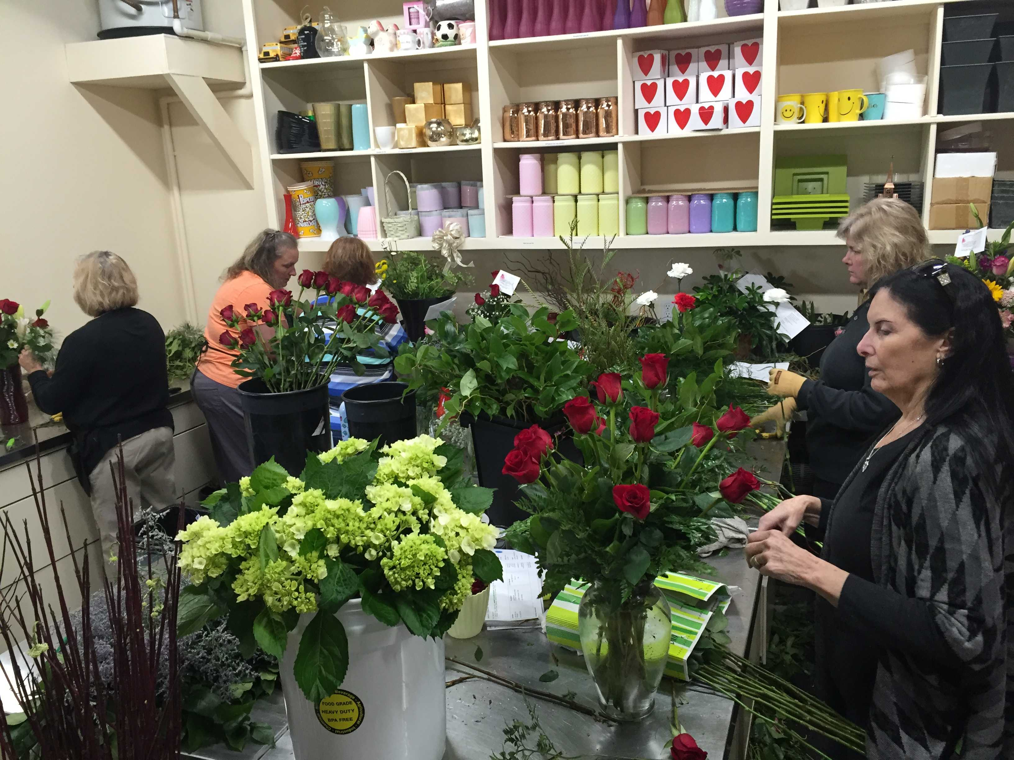 Florists spend months preparing for Valentine's Day rush