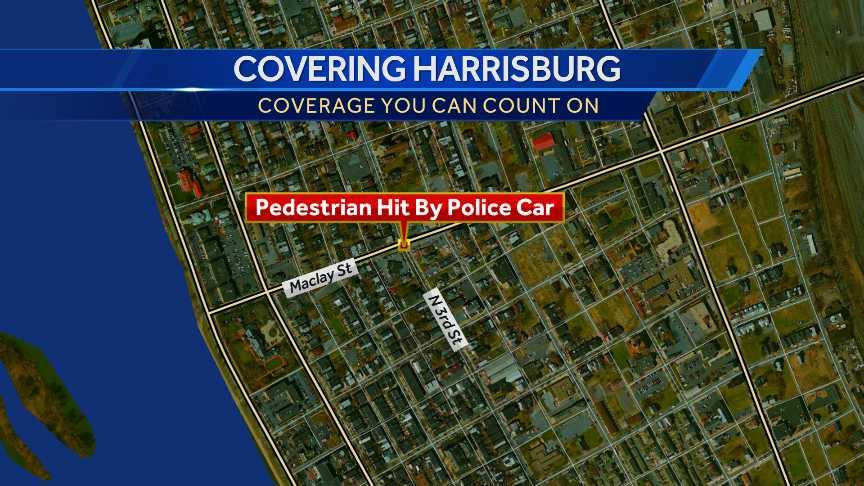 Harrisburg map pedestrian hit