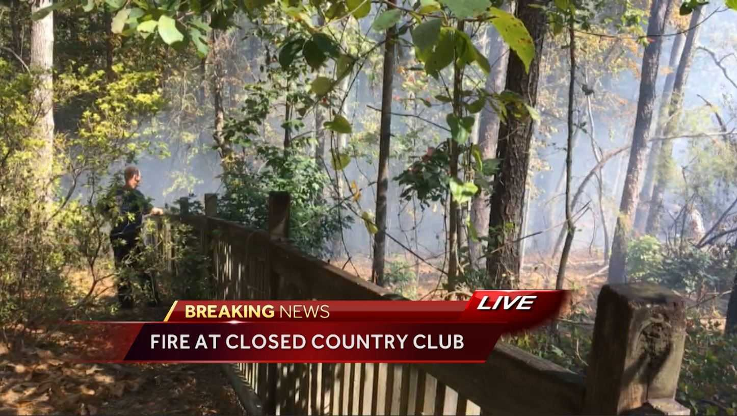 Fire at closed Heatherwood Country Club