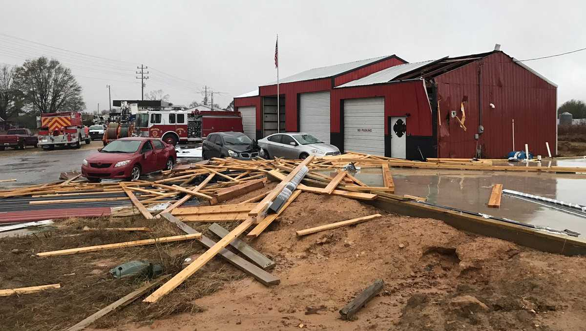 Helicon Fire Department storm damage