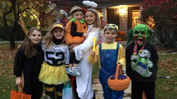 Kids ready for trick or treat