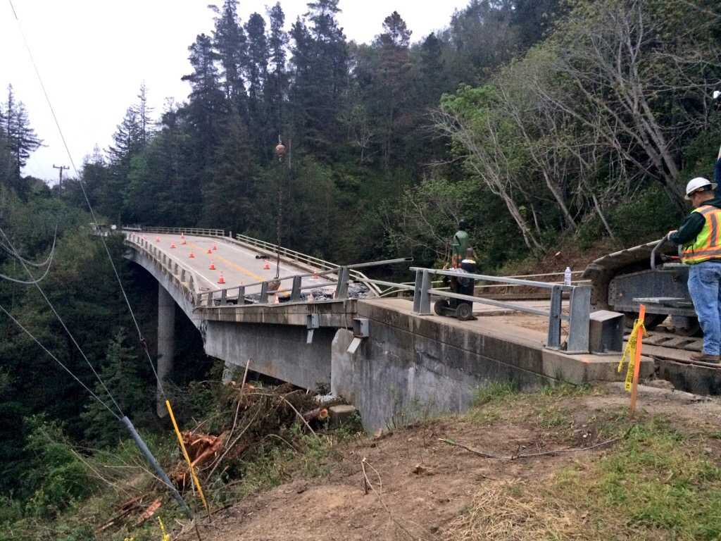 Pfeiffer Canyon replacement bridge estimated in six months as demolition continues